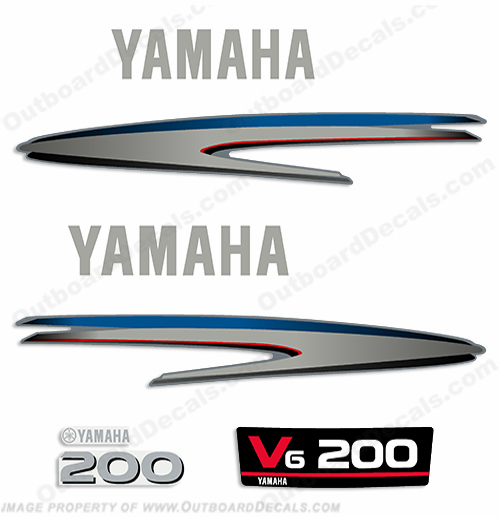 Yamaha 200hp 2-Stroke Decal Kit - 2002 - 2006+