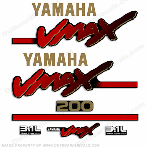 Yamaha 200hp Vmax OX66 3.1L Decal Kit