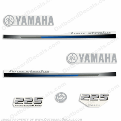 Yamaha 225hp Fourstroke Decal Kit - 2013