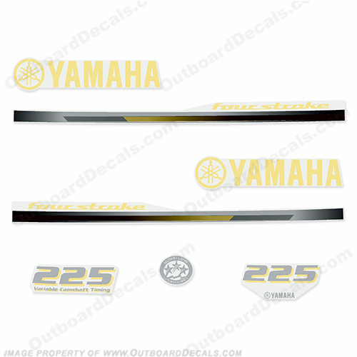 Yamaha 2013 Style 225hp Decals - Yellow