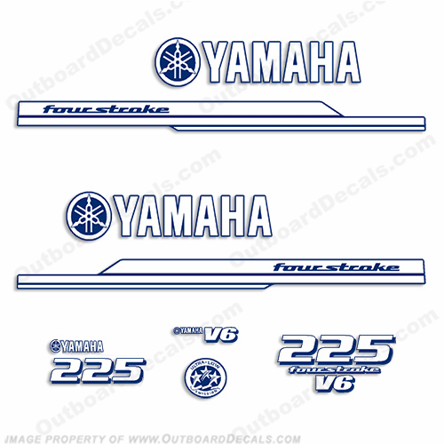 Yamaha 225hp Decal Kit 2010+ (1-Color)