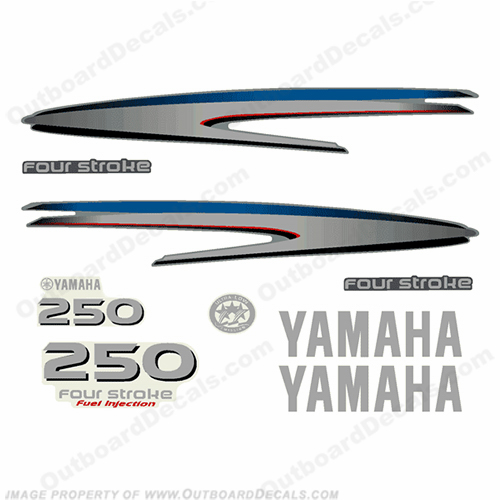 Yamaha 250hp 4-Stroke Complete Decal Kit