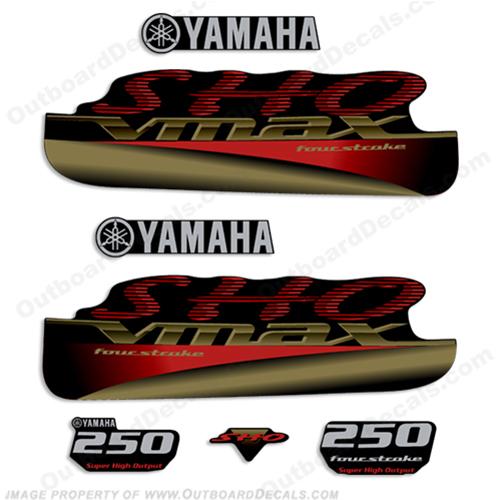 Yamaha 250hp Vmax Sho Decals