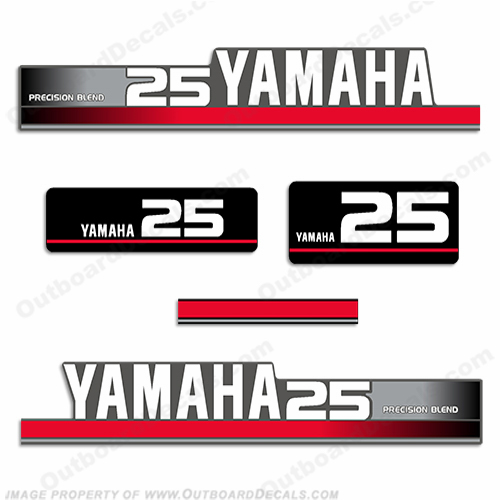 Yamaha 1995 25hp Decal Kit (Silver)