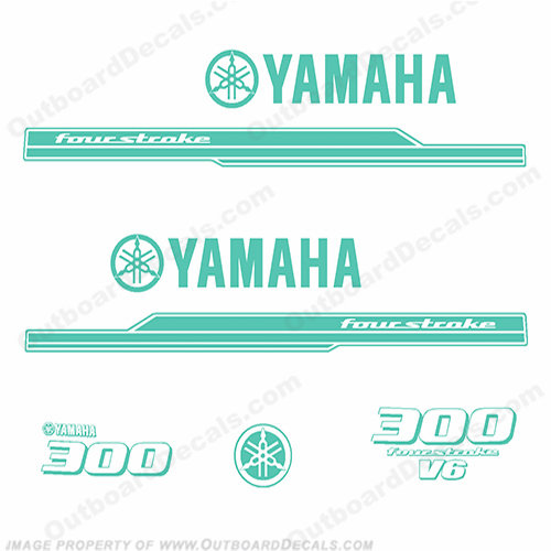 Yamaha 300hp Decal Kit - Any Color