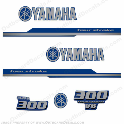 Yamaha 2010 Style 300hp Decals - Blue