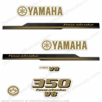 Yamaha 2010 Style 350hp Decals - Gold