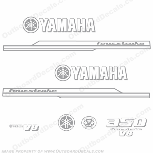 Yamaha 350hp Decal Kit 2010+ (1-Color)
