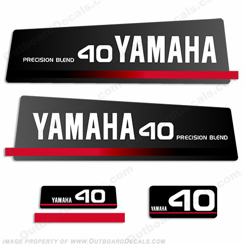 Yamaha 1993 40hp Decals