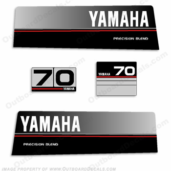 Yamaha 1986 - 1989 70hp Decal Kit
