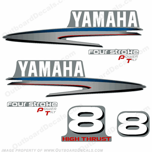 Yamaha 8hp Fourstroke Decals