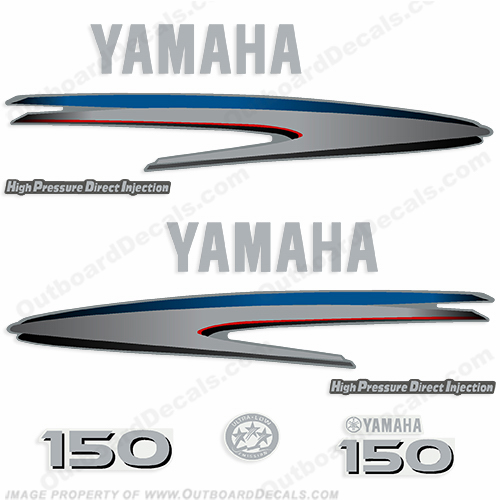 Yamaha 150hp HPDI Complete Decal Kit