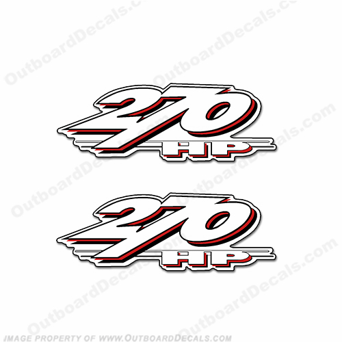 Yamaha LS2000 270hp Decals (Set of 2) - Red