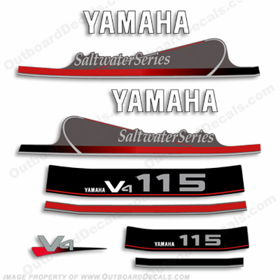 Yamaha 115hp Saltwater Series Decal Kit