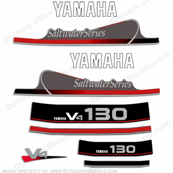 Yamaha 130hp Saltwater Series Decal Kit