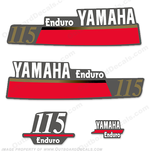 Yamaha 115hp Enduro Decal Kit