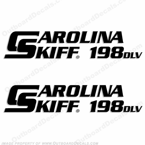 Carolina Skiff 198 DLV Boat Decals - (Set of 2) Any Color!