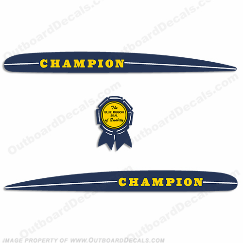 1947-1950 Champion Vintage Antique Decals
