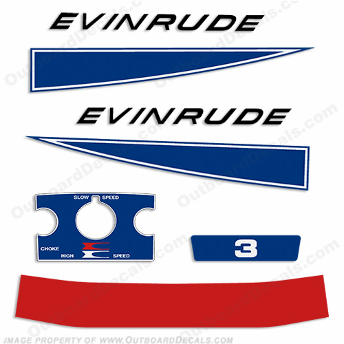 Evinrude 1968 3hp Decal Kit