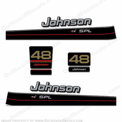 Johnson 48hp SPL Decal Kit - 1997-1998