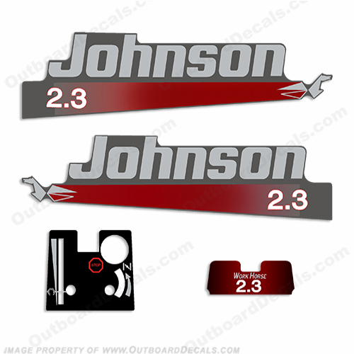 Johnson 2.3hp Work Horse Decal Kit