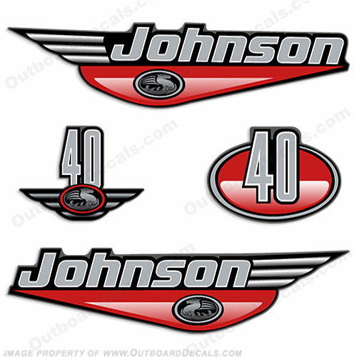 Johnson 40hp Decals (Red) - 2000