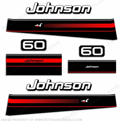 Johnson 1995 60hp Decal Kit