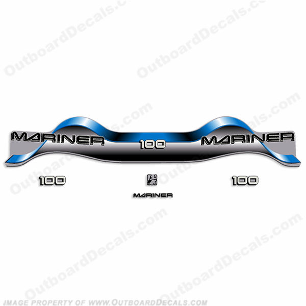 Mariner 100hp Decal Kit - Blue