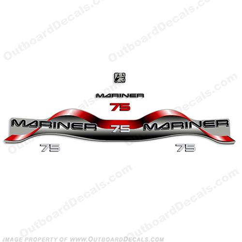 Mariner 75hp Decal Kit - Red