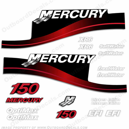 Mercury 150hp Decal Kit - 1999-2004 All Models Available (Red) mercury 150, mercury 150hp, mercury 150 decals, mercury 150 hp, mercury saltwater, mercury saltwater decals, mercury freshwater decals, mercury efi decals, mercury optimax decals, mercury xr6 decals, mercury offshore edition decals, mercury efi saltwater decals, mercury optimax saltwater decals, mercury efi freshwater decals, mercury efi saltwater decals, mercury saltwater, mercury freshwater, mercury efi, mercury optimax, mercury xr6, mercury offshore edition, mercury efi saltwater, mercury optimax saltwater, mercury efi freshwater, mercury efi saltwater, merc decals, merc 150, merc 150 decals, optimax saltwater, efi saltwater, offshore edition, xr6, efi freshwater, mercury 150 optimax saltwater, mercury 150 optimax saltwater decals