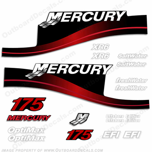 Mercury 175hp Decal Kit - 1999-2004 All Models Available (Red) 175 decals, mercury 175 hp, mercury saltwater, mercury saltwater decals, mercury freshwater decals, mercury efi decals, mercury optimax decals, mercury xr6 decals, mercury offshore edition decals, mercury efi saltwater decals, mercury optimax saltwater decals, mercury efi freshwater decals, mercury efi saltwater decals, mercury saltwater, mercury freshwater, mercury efi, mercury optimax, mercury xr6, mercury offshore edition, mercury efi saltwater, mercury optimax saltwater, mercury efi freshwater, mercury efi saltwater, merc decals, merc 175, merc 175 decals, optimax saltwater, efi saltwater, offshore edition, xr6, efi freshwater, mercury 175 optimax saltwater, mercury 175 optimax saltwater decals