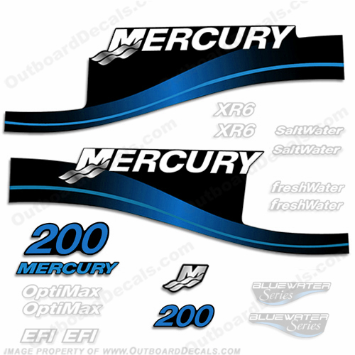 Mercury 200hp Decal Kit - 1999-2004 All Models Available (Blue) 200 decals, mercury 200 hp, mercury saltwater, mercury saltwater decals, mercury freshwater decals, mercury efi decals, mercury optimax decals, mercury xr6 decals, mercury offshore edition decals, mercury efi saltwater decals, mercury optimax saltwater decals, mercury efi freshwater decals, mercury efi saltwater decals, mercury saltwater, mercury freshwater, mercury efi, mercury optimax, mercury xr6, mercury offshore edition, mercury efi saltwater, mercury optimax saltwater, mercury efi freshwater, mercury efi saltwater, merc decals, merc 200, merc 200 decals, optimax saltwater, efi saltwater, offshore edition, xr6, efi freshwater, mercury 200 optimax saltwater, mercury 200 optimax saltwater decals