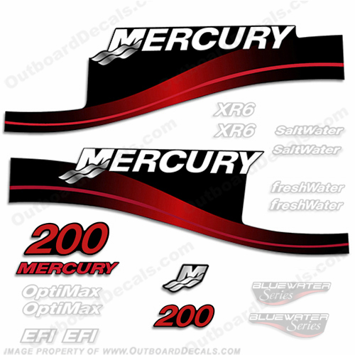 Mercury 200hp Decal Kit - 1999-2004 All Models Available (Red) 200 decals, mercury 200 hp, mercury saltwater, mercury saltwater decals, mercury freshwater decals, mercury efi decals, mercury optimax decals, mercury xr6 decals, mercury offshore edition decals, mercury efi saltwater decals, mercury optimax saltwater decals, mercury efi freshwater decals, mercury efi saltwater decals, mercury saltwater, mercury freshwater, mercury efi, mercury optimax, mercury xr6, mercury offshore edition, mercury efi saltwater, mercury optimax saltwater, mercury efi freshwater, mercury efi saltwater, merc decals, merc 200, merc 200 decals, optimax saltwater, efi saltwater, offshore edition, xr6, efi freshwater, mercury 200 optimax saltwater, mercury 200 optimax saltwater decals