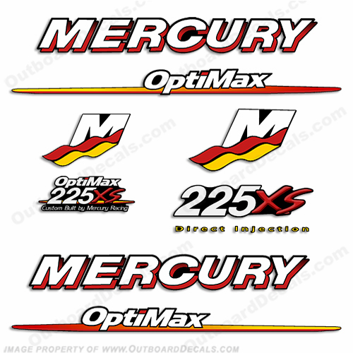 Mercury 225XS Optimax Decal Kit - 2007 - 2009