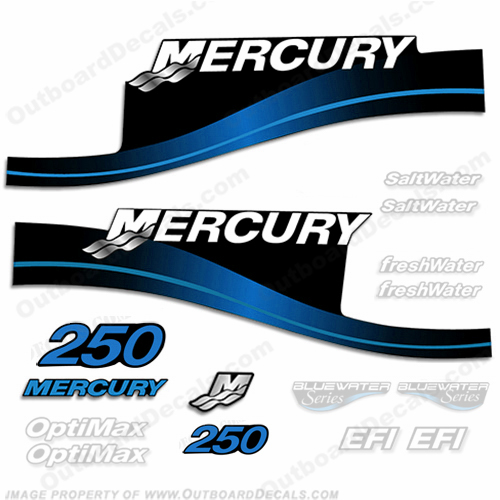 Mercury 250hp Decal Kit - 1999-2004 All Models Available (Blue) 250 decals, mercury 250 hp, mercury saltwater, mercury saltwater decals, mercury freshwater decals, mercury efi decals, mercury optimax decals, mercury xr6 decals, mercury offshore edition decals, mercury efi saltwater decals, mercury optimax saltwater decals, mercury efi freshwater decals, mercury efi saltwater decals, mercury saltwater, mercury freshwater, mercury efi, mercury optimax, mercury xr6, mercury offshore edition, mercury efi saltwater, mercury optimax saltwater, mercury efi freshwater, mercury efi saltwater, merc decals, merc 250, merc 250 decals, optimax saltwater, efi saltwater, offshore edition, xr6, efi freshwater, mercury 250 optimax saltwater, mercury 250 optimax saltwater decals