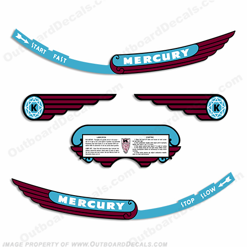 Mercury 1946 KD-3 Outboard Engine Decals