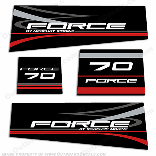 Mercury Marine Force 70hp Decal Kit