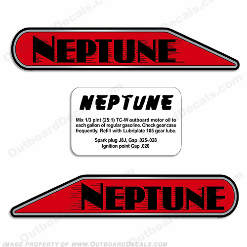 Neptune Outboard Decals - For A1, AA1, B1, 11A4 Models