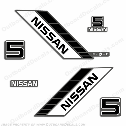 Nissan 5hp Decal Kit - 1990s