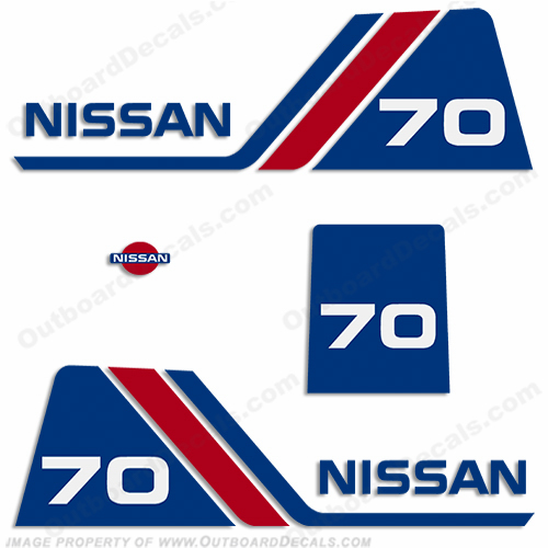 Nissan 70hp Decal Kit - 1984 - 1995