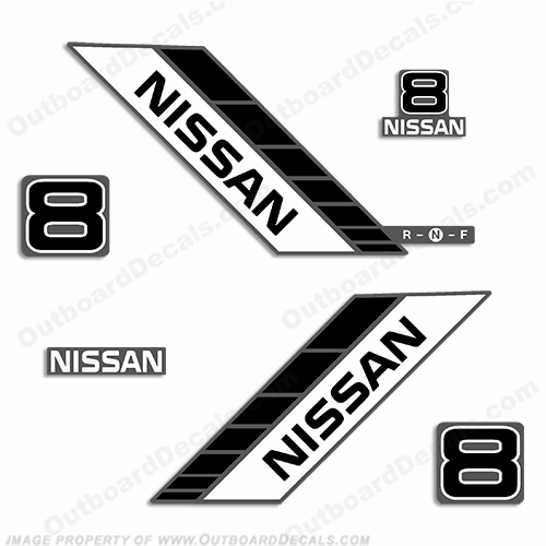 Nissan 8hp Decal Kit - 1990s