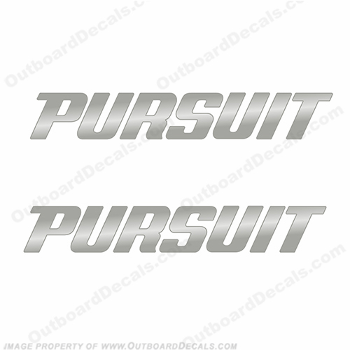 Pursuit Boat Logo Decal - Chrome
