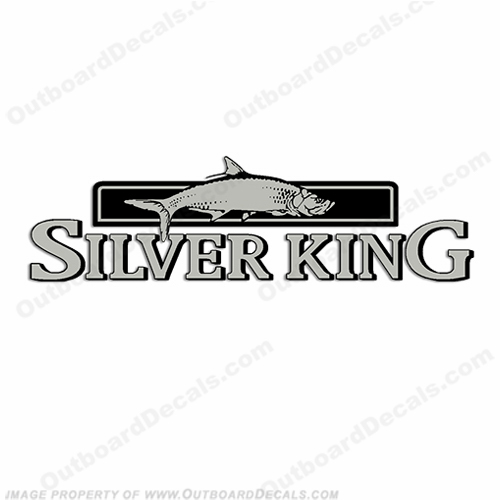 Silver King Decal by Mako Marine 15, 11, 30, silverking, silver, king