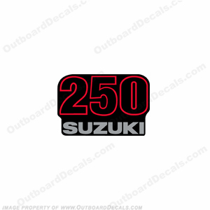 "Suzuki Single ""250"" Decal - Rear"