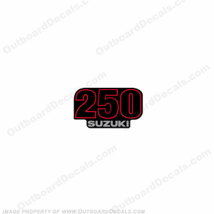 "Suzuki Single ""250"" Decal - Front"