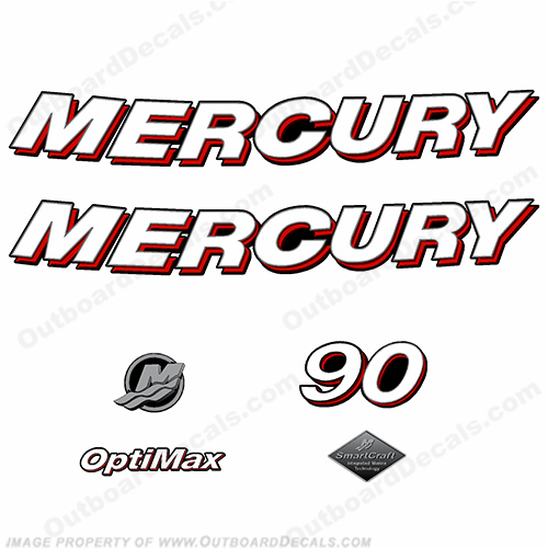 "Mercury 90hp ""Optimax"" Decals - 2006"