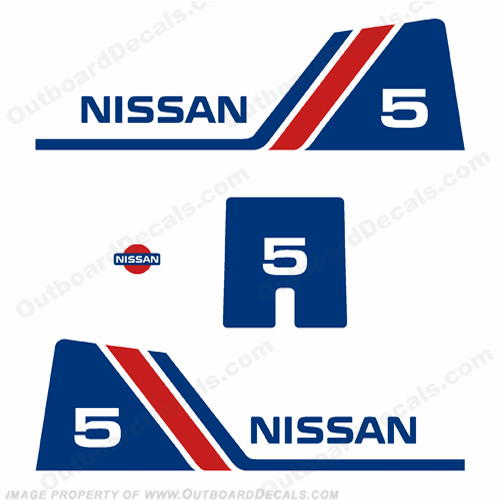 Nissan 5hp Decal Kit - 1984 - 1995