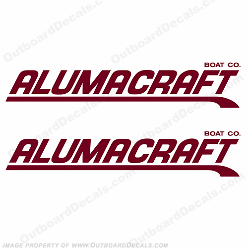 Alumacraft Boat Logo Decals - Style 3 (Set of 2) aluma craft