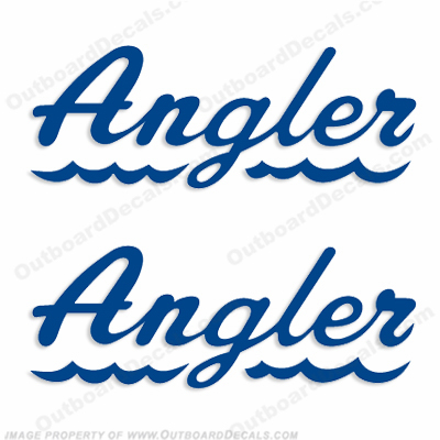 Angler Boat Logo Decals - Any Color!