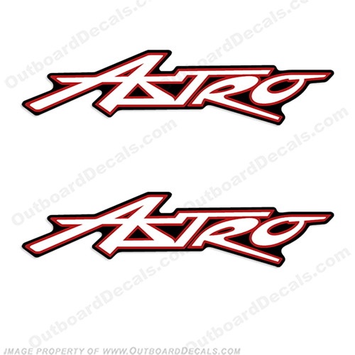 Astro Boat Decals (Any Colors)  Astro boat manufacturer logo decal sticker